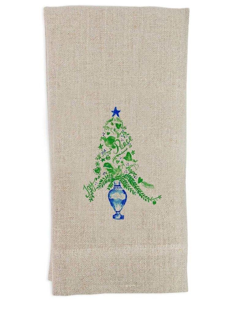 Topiary Flax Tea Towel