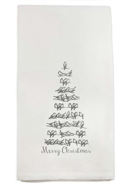 Silver Bird Tree Tea Towel | Cotton