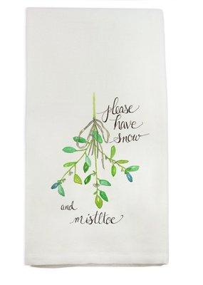 Mistletoe Tea Towel | Cotton