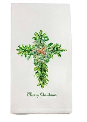Christmas Cross Tea Towel | Cotton