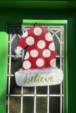 Santa Hat Door Hanger