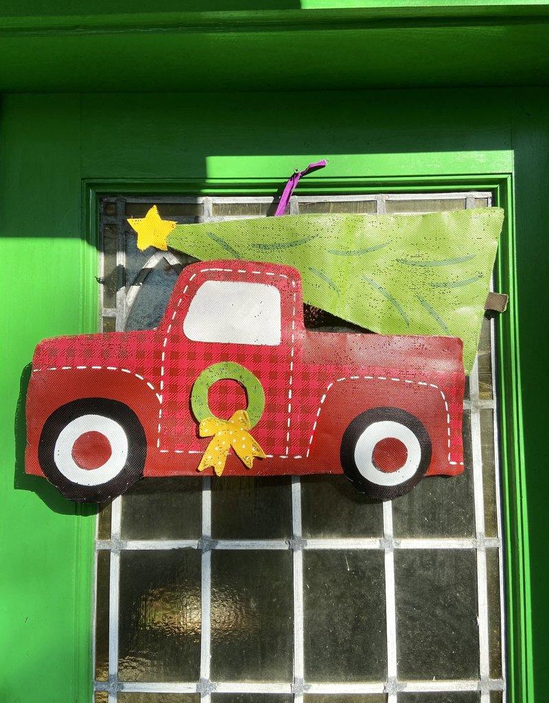 Christmas Truck and Tree Door Hanger