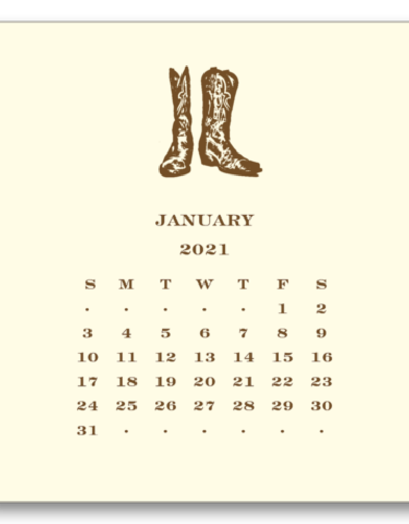 Cowboy Calendar and Easel 2022