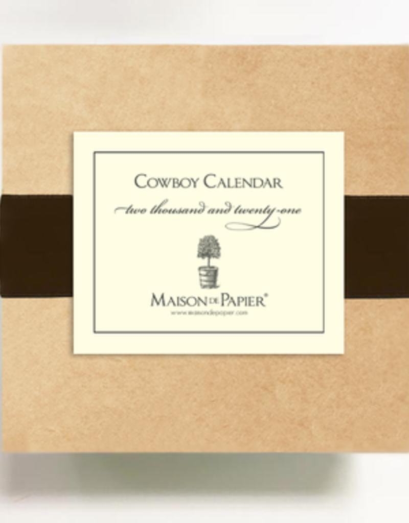 Cowboy Calendar and Easel 2021