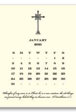 Cross Calendar with Easel