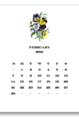 Floral Calendar with Easel 2021