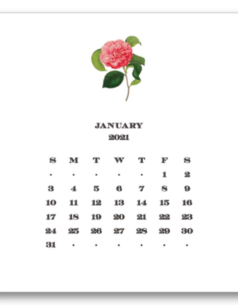 Floral Calendar with Easel 2022