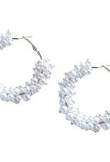 Pearl Cluster Hoops