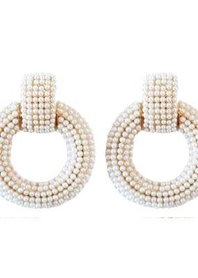 Pearl Doorknocker Drop Earrings