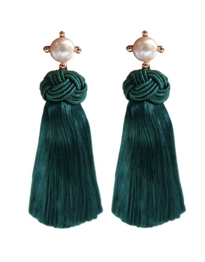 Emerald Pearl Tassels