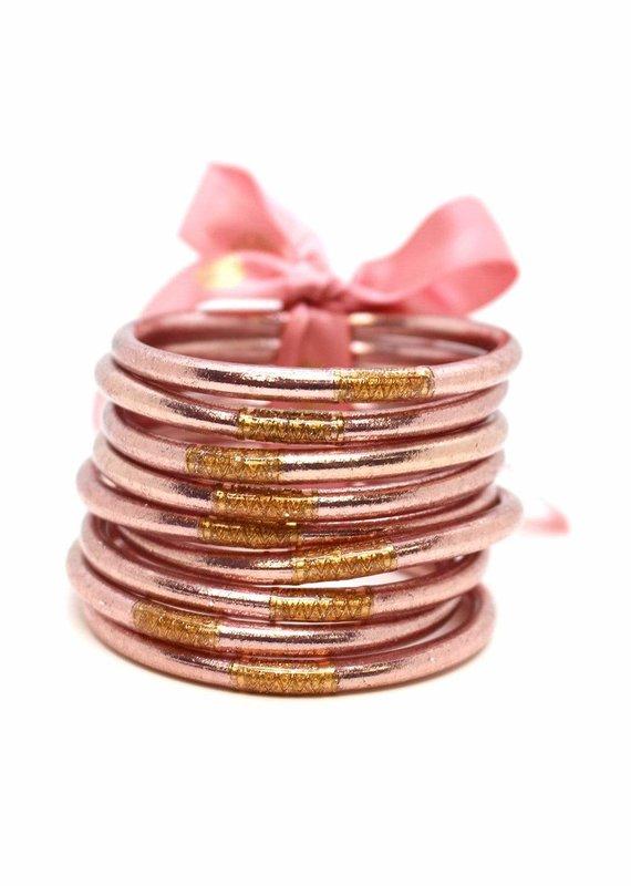 Rose Gold Prayer Bangles