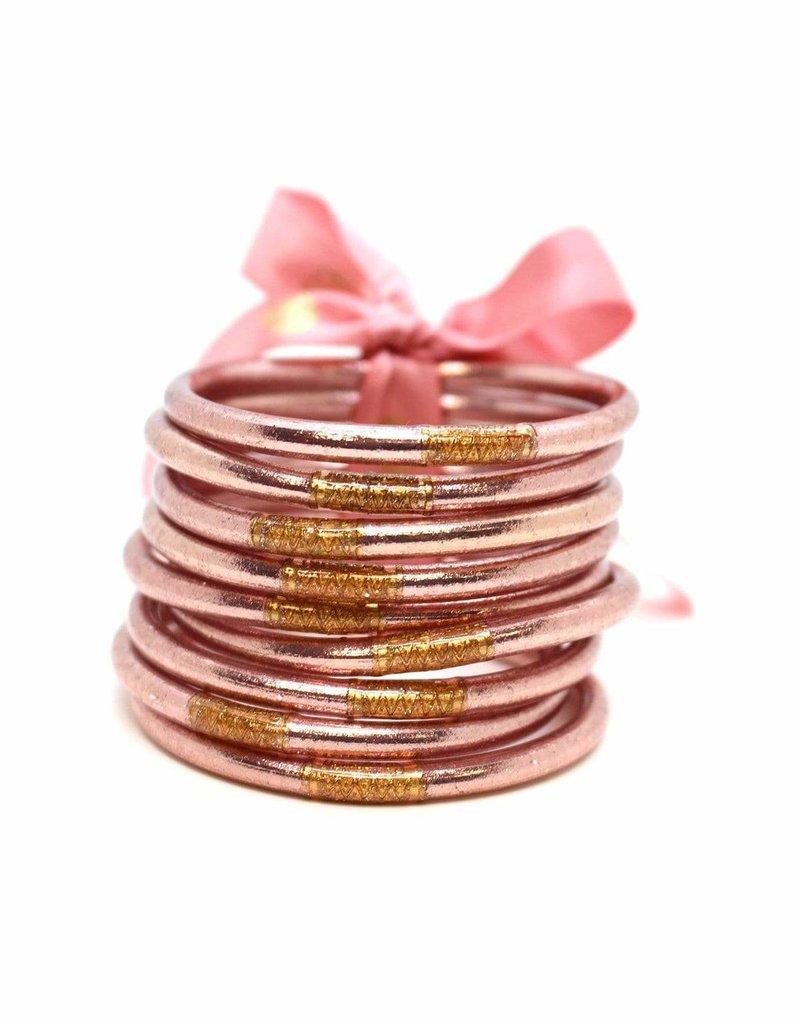 Rose Gold Prayer Bangle