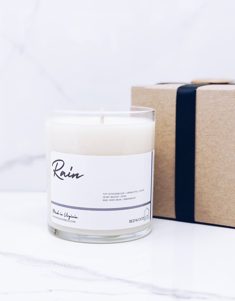 Rain 10.5 Boxed Candle