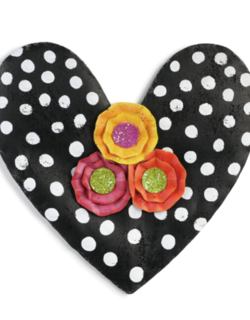 Black Polka Dot Heart Door Hanger