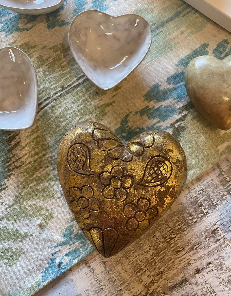 Gold Foil Engraved Heart