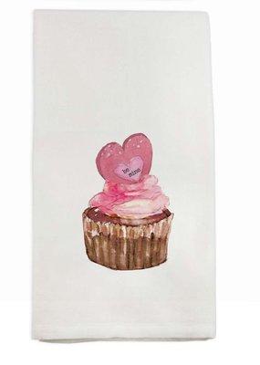Be Mine Cupcake Tea Towel | Cotton