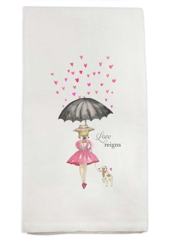 Love Reigns Tea Towel   Cotton