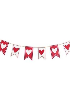 Valentine Heart Pendant Flag Banner