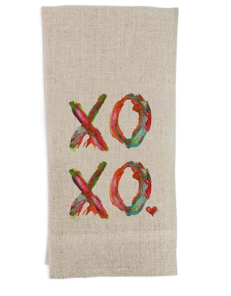 XOXO Flax Tea Towel