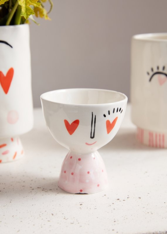 Heart Eyes Small Footed Bowl