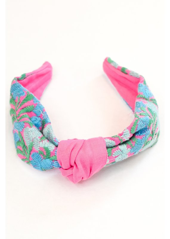 Embroidered Headband   6 Colors Avalaible
