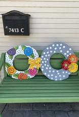 White Flower Wreath Door Hanger