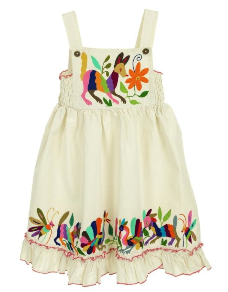 Embroidered Bib Dress