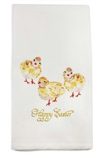 Three Baby Chicks Happy Easter Tea Towel
