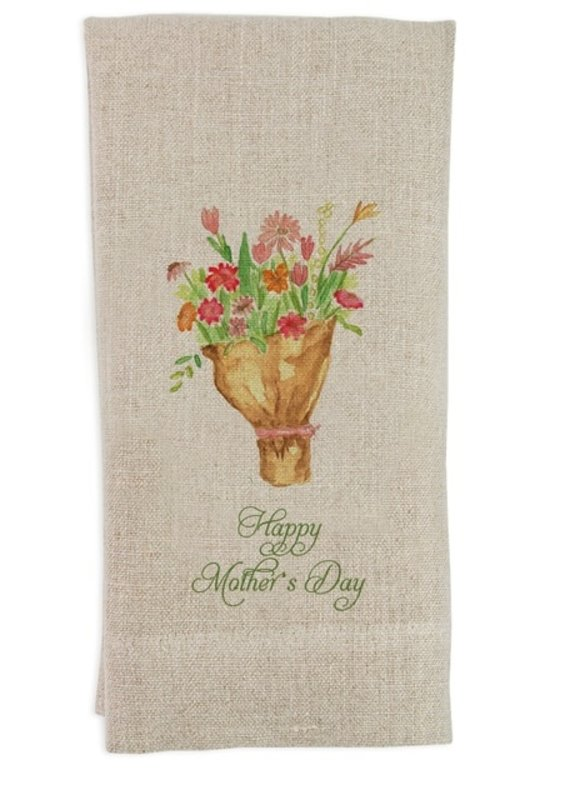 Mother's Day Flowers Tea Towel | Flax Linen