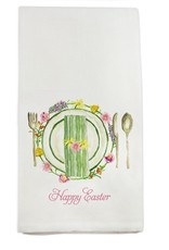 Happy Easter Placesetting Tea Towel