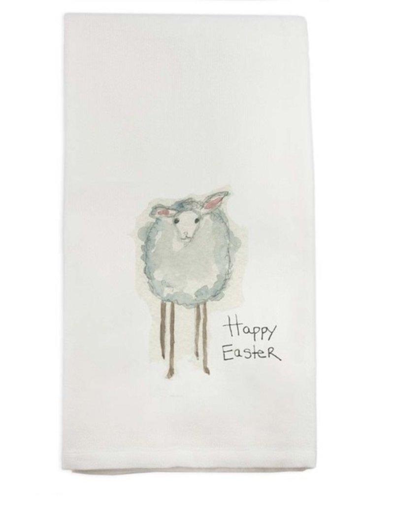Lamb Happy Easter Tea Towel