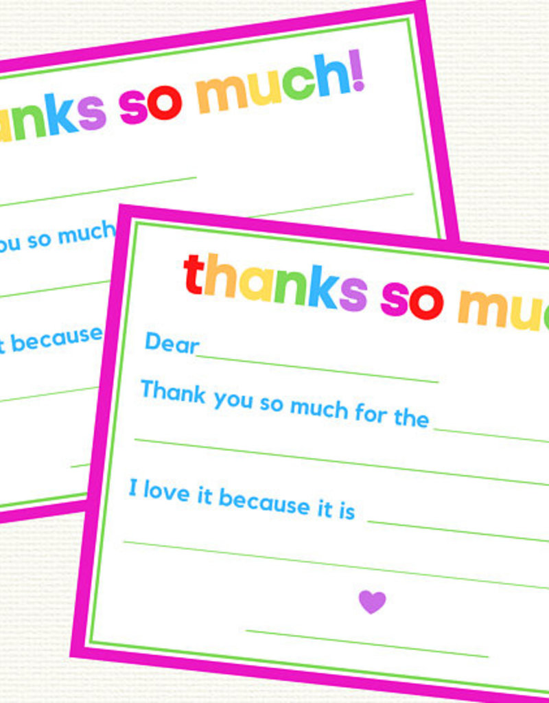 Girl Thanks So Much Fill In (Rainbow Letters)