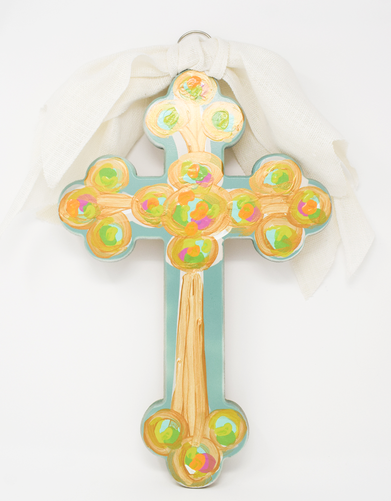 Hand Painted Cross Large