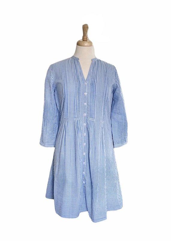 Gingham Juliette Dress | Blue