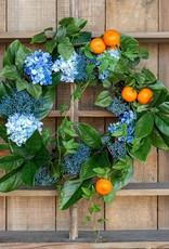 Summer Citrus & Hydrangea Wreath