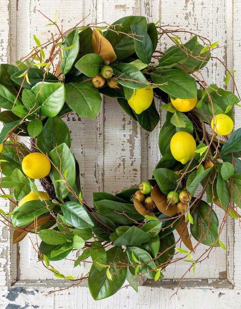 Lemon and Magnolia Wreath