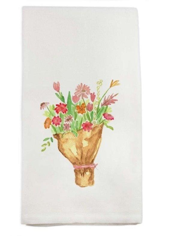 Tied Flower Bundle Tea Towel | Cotton
