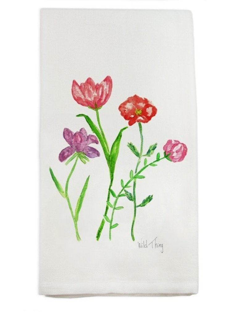 Floral Wild Thing Tea Towel
