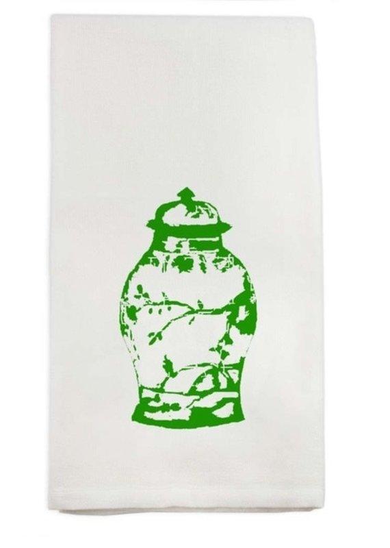 Green Ginger Jar Tea Towel | Cotton