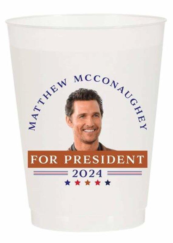 Matthew for President Reusable Cups