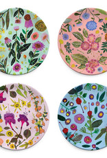 Wildflowers Plates Set of 4 assorted