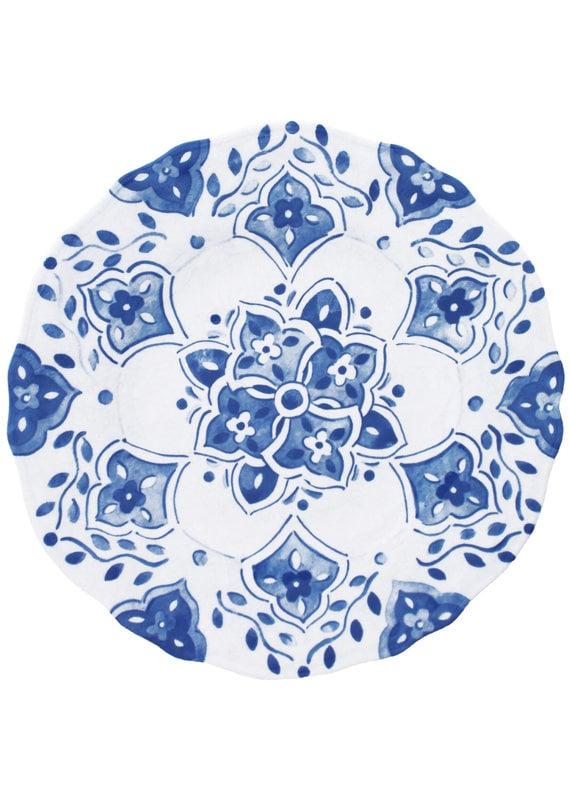 Moroccan Blue Salad Plate