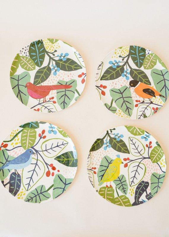 Bird and Foliage Plates Assorted