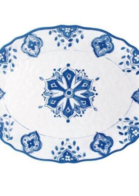 Moroccan Blue Oval Platter