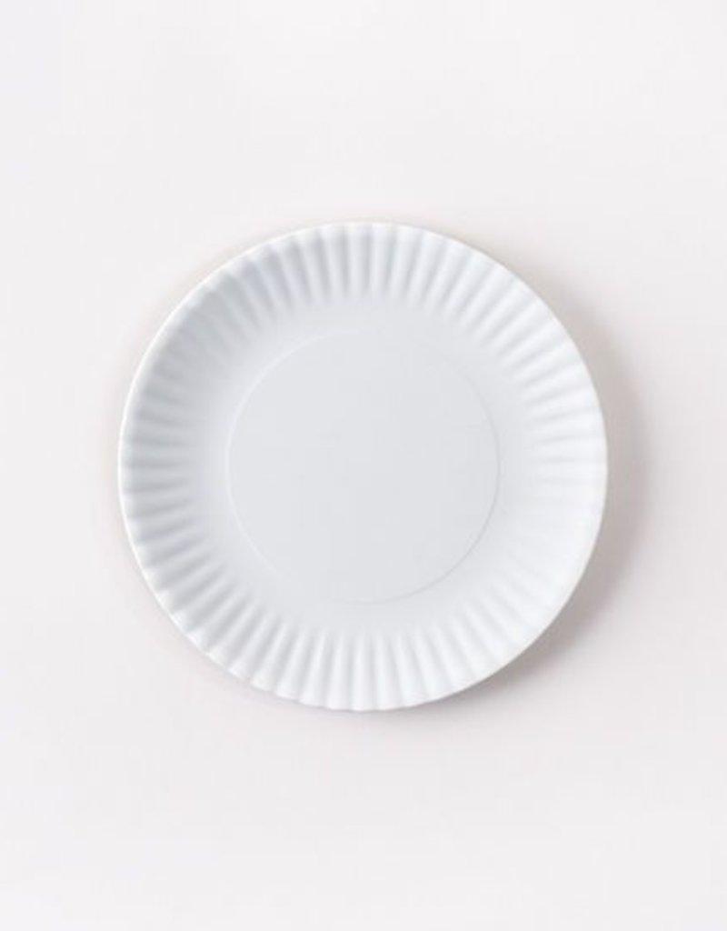 "Small White Melamine ""Paper"" Plate"