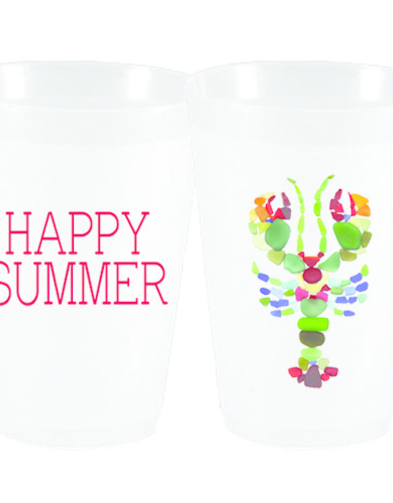Happy Summer Lobster Cups Frost Flex