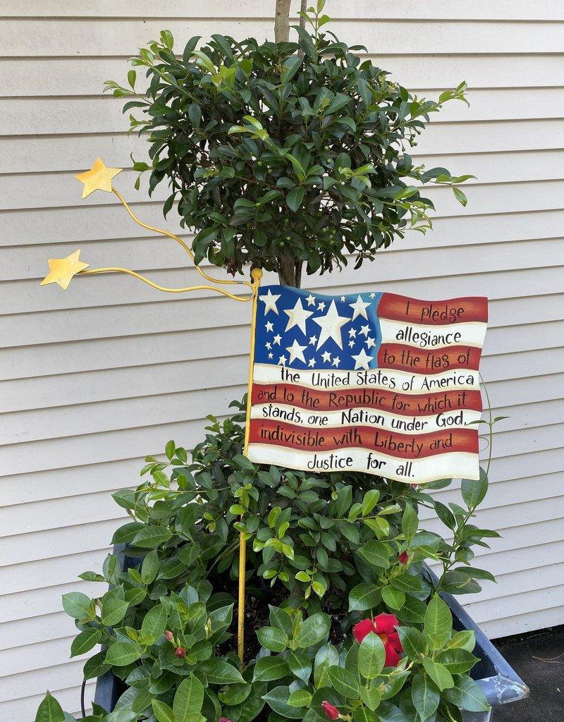 Pledge of Allegiance Flag Stake