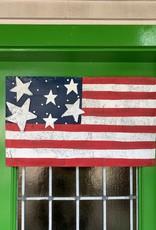 American Flag Mesh Door Hanger