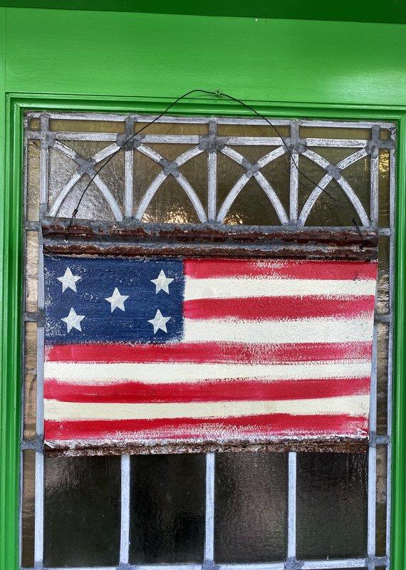 Metal American Flag Door Hanger