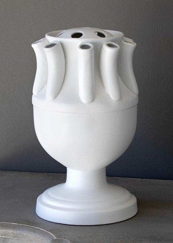 White Matte Finish Tulip Vase